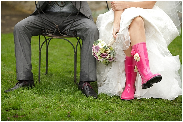 Rain on your wedding day wellingtons David McAuley