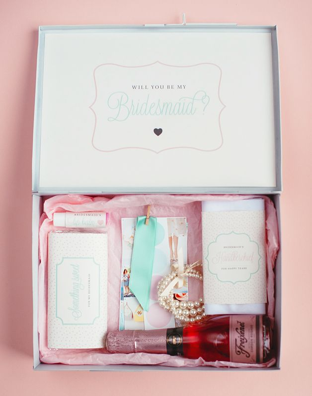 DIY bridesmaid gift box david mcauley photography